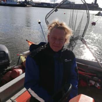 Magnus Ekström fiskare i Hangö