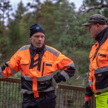 Repoveden kansallispuiston siltaa huollettiin, retkeilijöitä liikkeellä edellisvuotta vähemmän