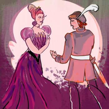 Kuningatar Rastaanrinta ja prinssi Maitoparta
