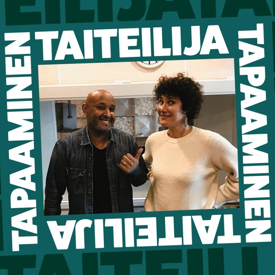 Näyttelijä Minttu Mustakallio ja lyömäsoittaja Mamba Assefa inspiroituvat vaaran tunteesta