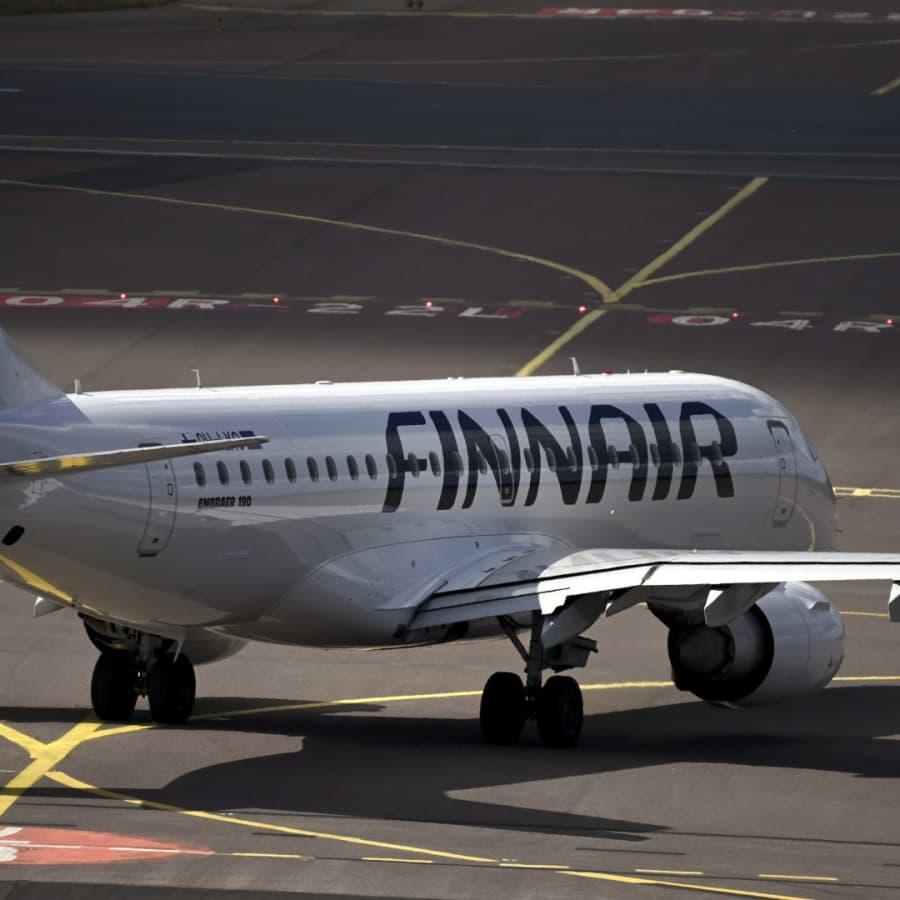 Finnairs omsättning ner med nästan 90 procent