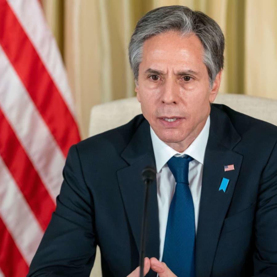 USA:s Antony Blinken utlovade stöd för Ukraina