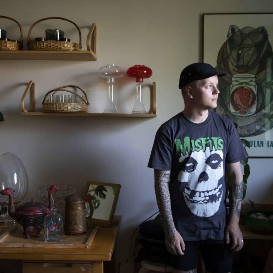 Designkeräilijä Iivari Viilomaa, 29, etsii löytöjä, jotka saavat kädetkin tärräämään