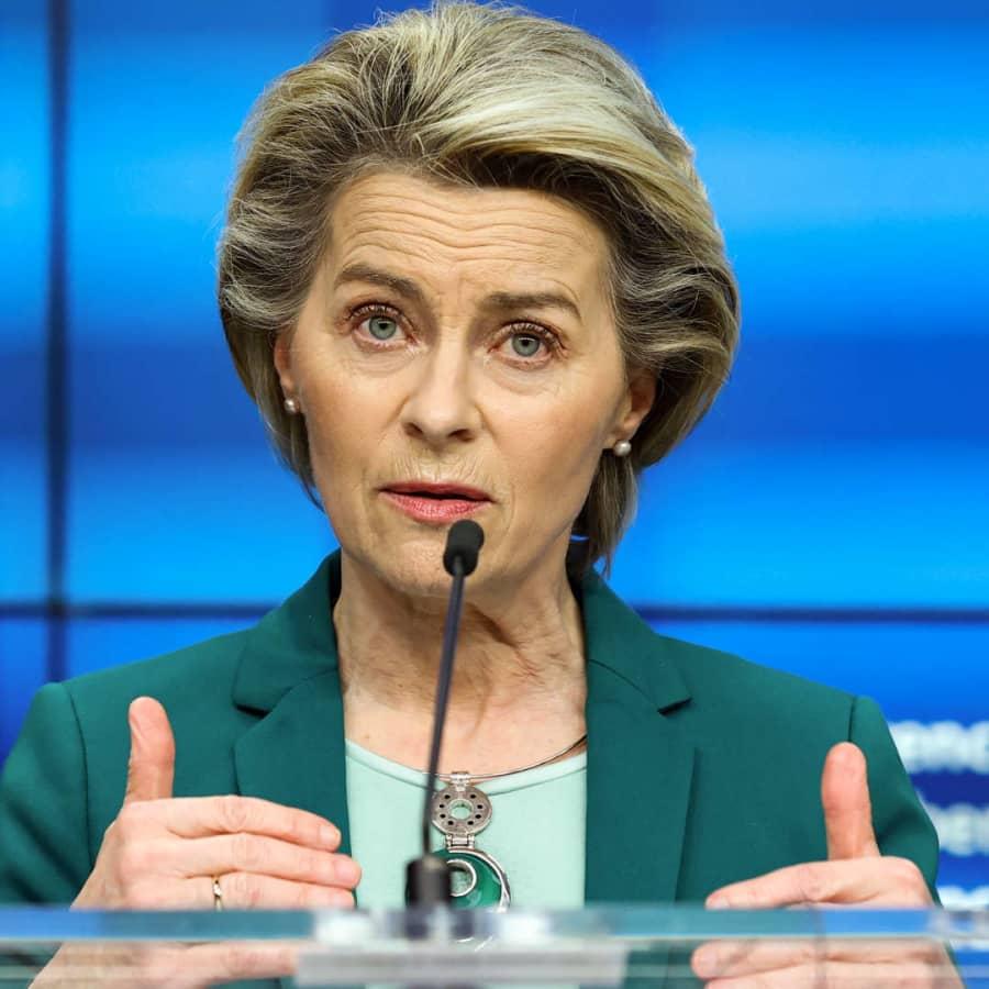 EU-kommissionens ordförande Ursula von der Leyen höll sitt årliga tal