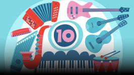 Kaikki soittimet. Orffit tutustuttavat soittimiin ja soitinten ääneen. Omituisista satunnaisista kohtaamisista syntyy kiinnostus soittamiseen. Kirjoittanut Hannu Sepponen.