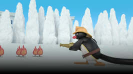 Pingu blir brandman