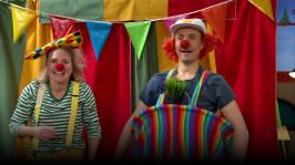 Clownnummer med Malin och Jontti