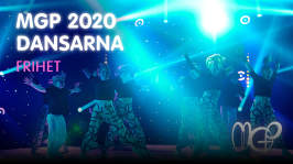 Dansen Frihet i MGP-finalen 2020
