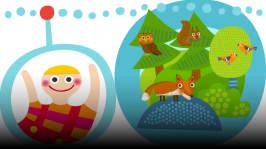 Pikku Kakkosen radiossa kuljeskellaan metsässä, ja jutellaan eläimistä ja marjojen poimimisesta.  Jakson laulut: Roope Mäenpää: Karhu nukkuu Loiskis: Manne Mato Soiva Siili: Nallet tallustaa Sagolik: Laulu oravasta