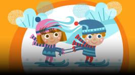 Saaran ja Teemun isä on lähdössä innoissaan hiihtolenkille. Lapsia kiinnostaisi oleilu ja lomailu, mutta Saara keksii, miten hiihtolenkkiin saadaan vauhtia supervoiman avulla.