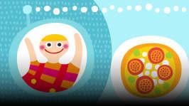 Iina päättää leipoa pizzaa ja miettii yhdessä Saimin kanssa, mitä pizzan päälle laitettaisiin. Ruokajuttujen ohessa kuunnellaan herkullisia lauluja.  Jakson laulut: Jousikvartetti Nakkipaketti: Leipuri Hiiva Pikku Kakkosen orkesteri: Popsi popsi porkkanaa Yökyöpelit: Hillokantaatti Soiva Siili: Putte-Possun nimipäivät
