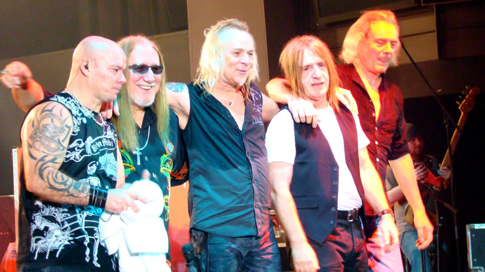Den brittiska rockgruppen Uriah Heep.