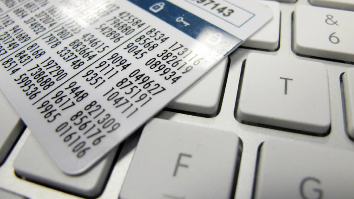 Nätbankskoder för nätbank.