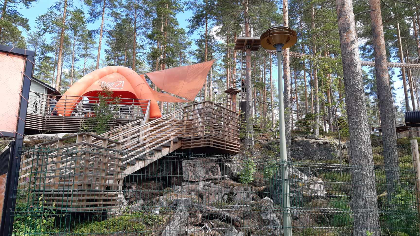 FlowPark kiipeilypuisto Ähtärin eläinpuiston yhteydessä