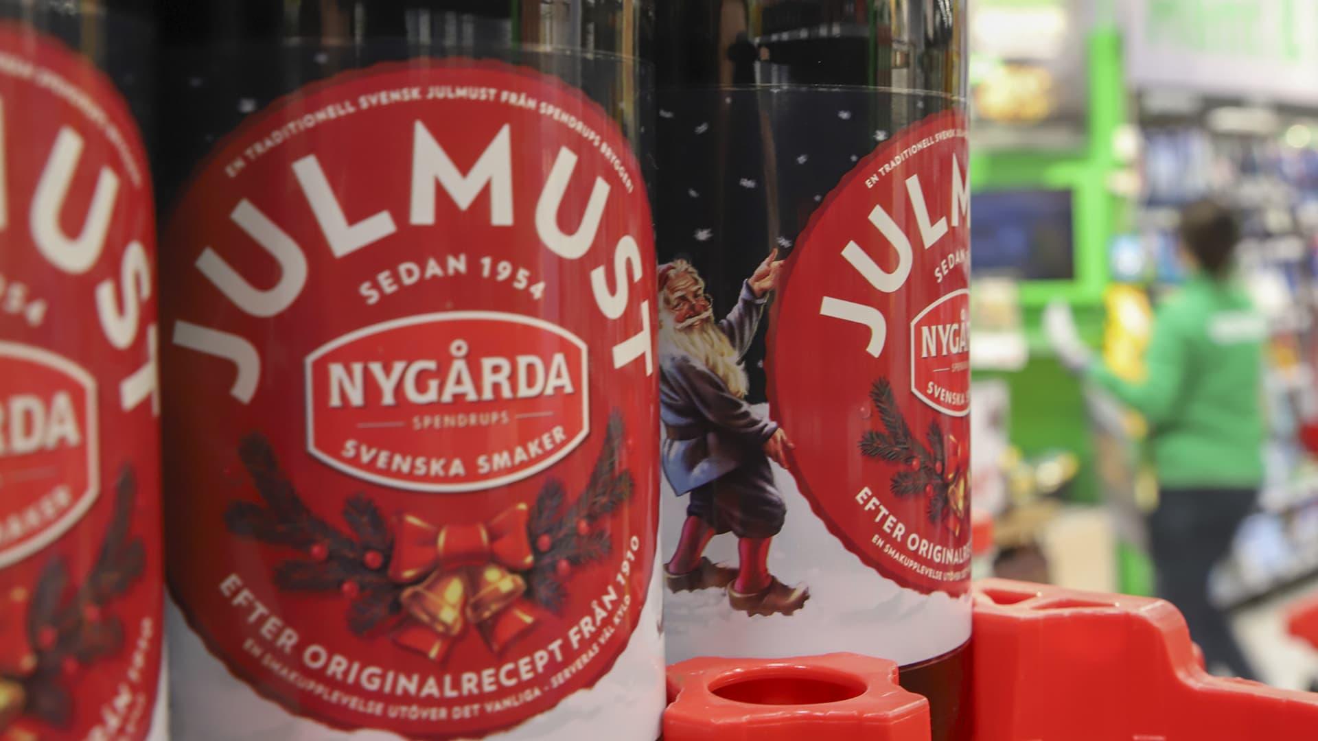 Julmustia ruokakauppa coopissa Haaparannalla