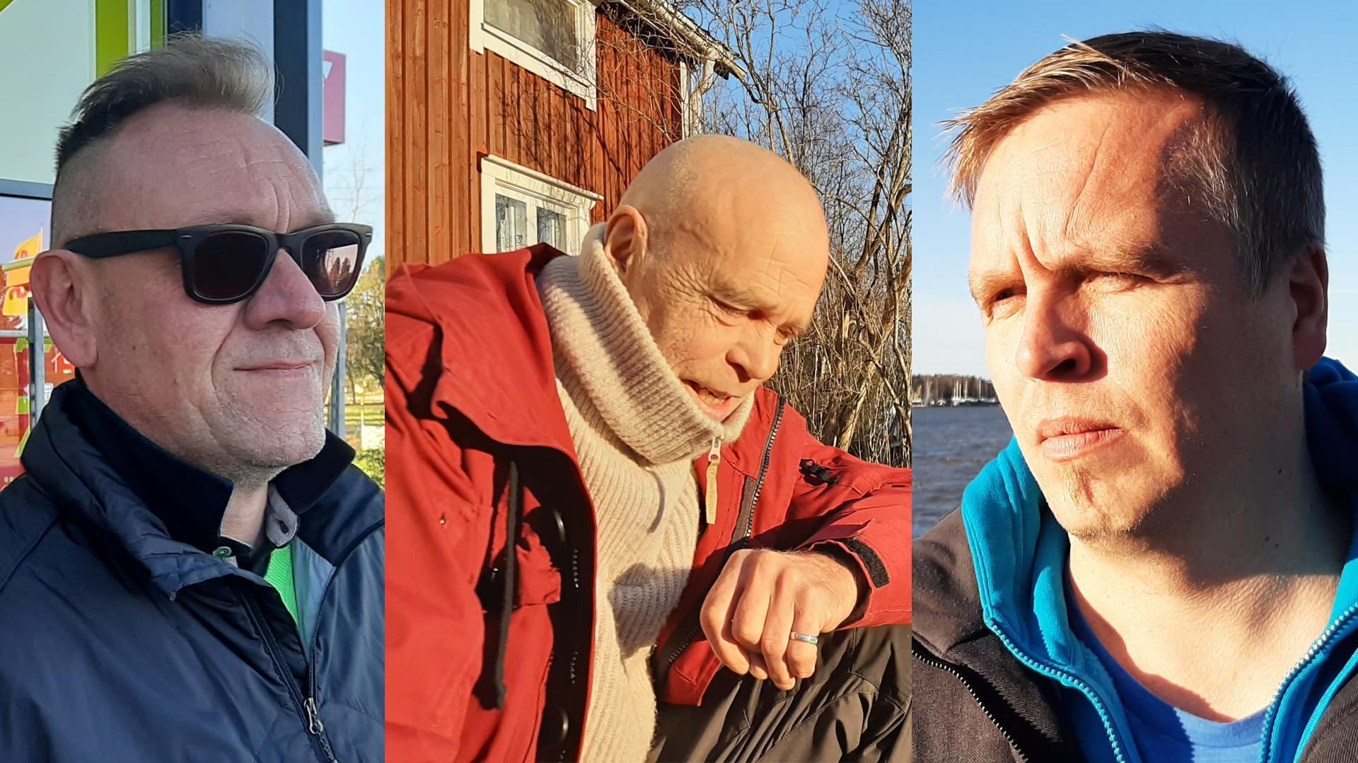 Pasi Lehti, Anders Myntti ja Jani Suomalainen
