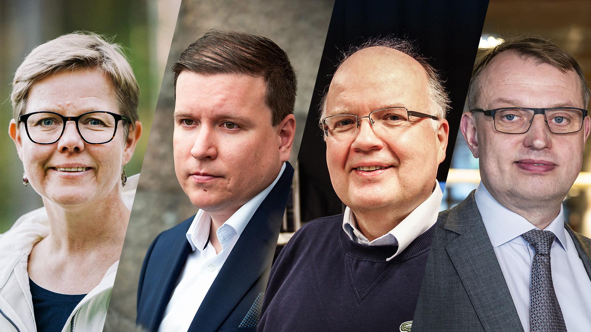 Krista Mikkonen, Ville Tavio, Peter Lund ja Jukka Leskelä A-Talkissa.