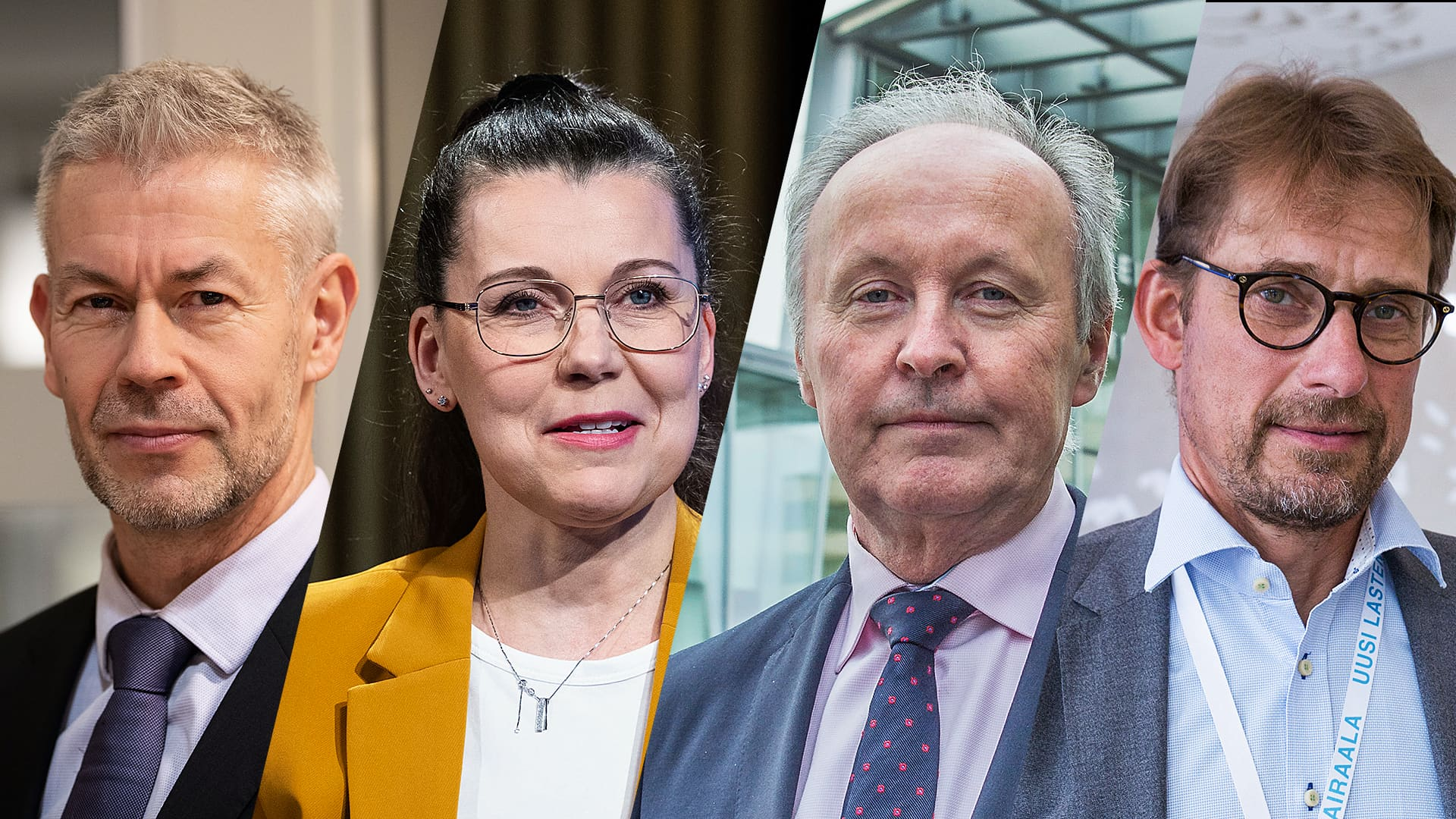 A-Talkissa koronatilanteesta keskustelivat Taneli Puumalainen, Arja Juvonen, Aki Linden ja Jari Petäjä.