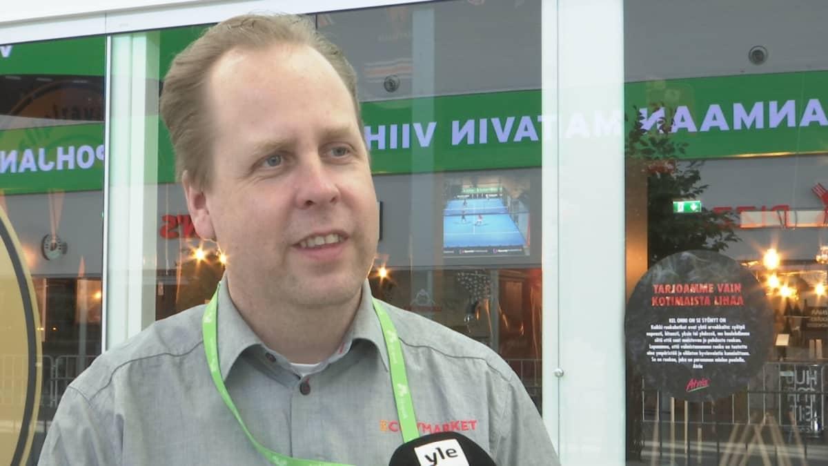 Citymarketin kauppias Matti Suolminen.