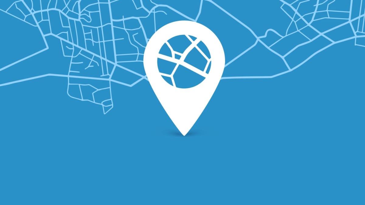 kartta ja sijaintimerkki