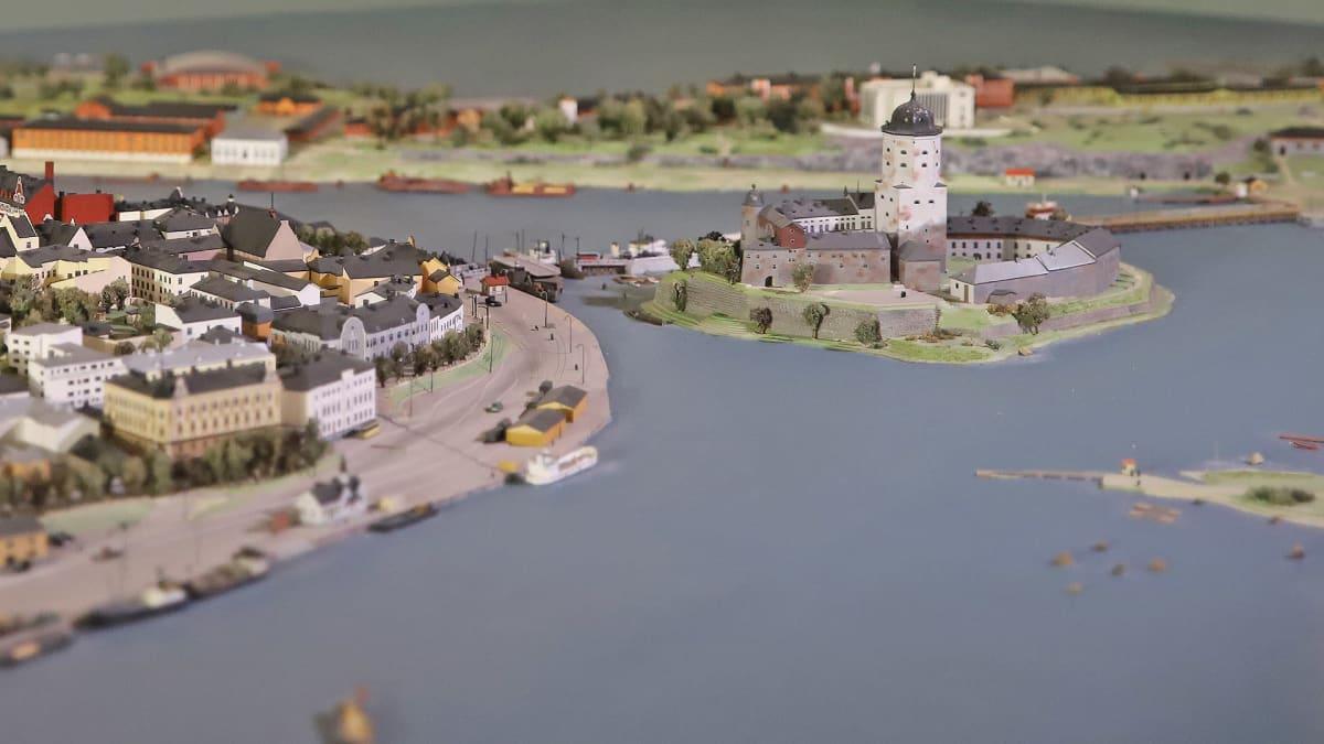 Viipurin linnan pienoismalli Etelä-karjalan museossa