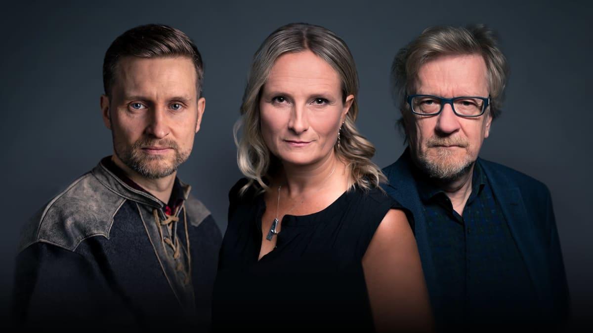 Kolumnistit Pekka Juntti, Reetta Räty ja Kari Enqvist