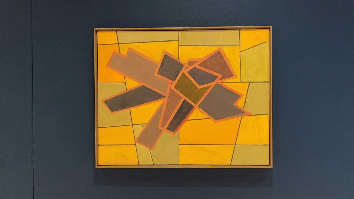 Taidemaalari Sam Vannin öljyvärityö kankaalle nimeltään Keltainen sommitelma