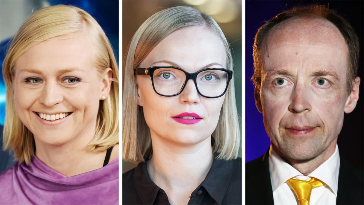 Elina Valtonen, Minja Koskela ja Jussi Halla-aho.