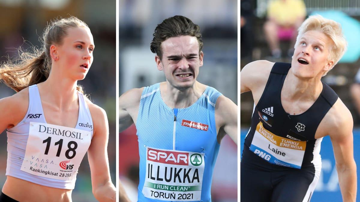 Viivi Lehikoinen, Riku Illukka ja Topias Laine.