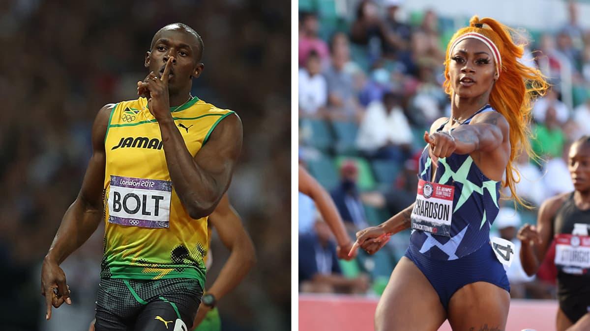 Usain Bolt ja Sha'Carri Richardson