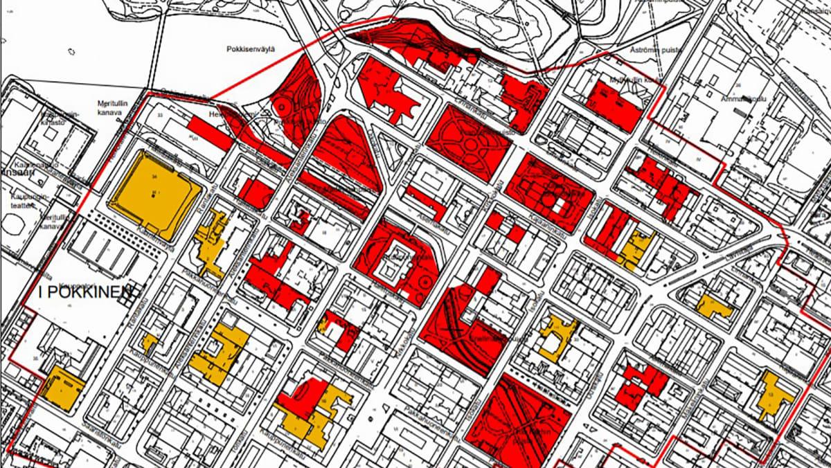 kartta Oulun arvokkaimmista arkeologisista alueista