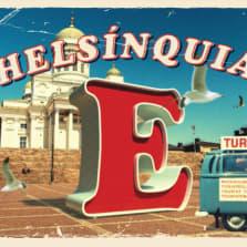 Vanha postikortti, jossa Senaatintori, teksti Helsinguia.