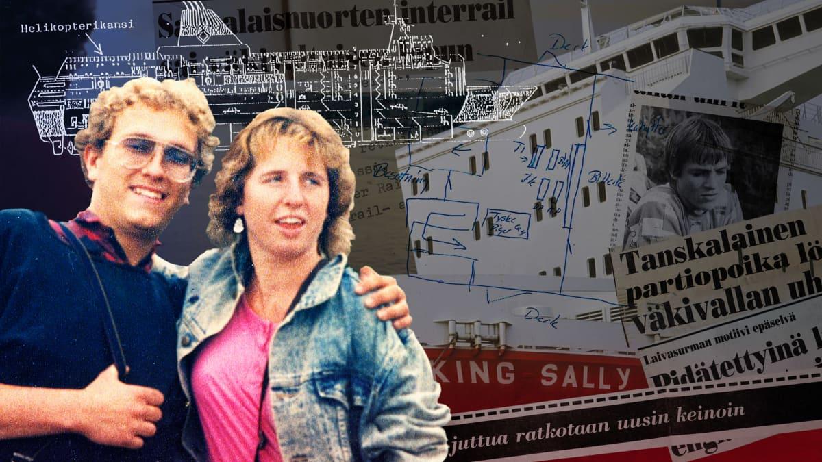 Viking Sallyn uhrit, eli länsisaksalaiset Klaus Schelke ja Bettina Taxis vuonna 1987. Henkirikosta koskevia lehtileikkeitä vuodelta 1987.