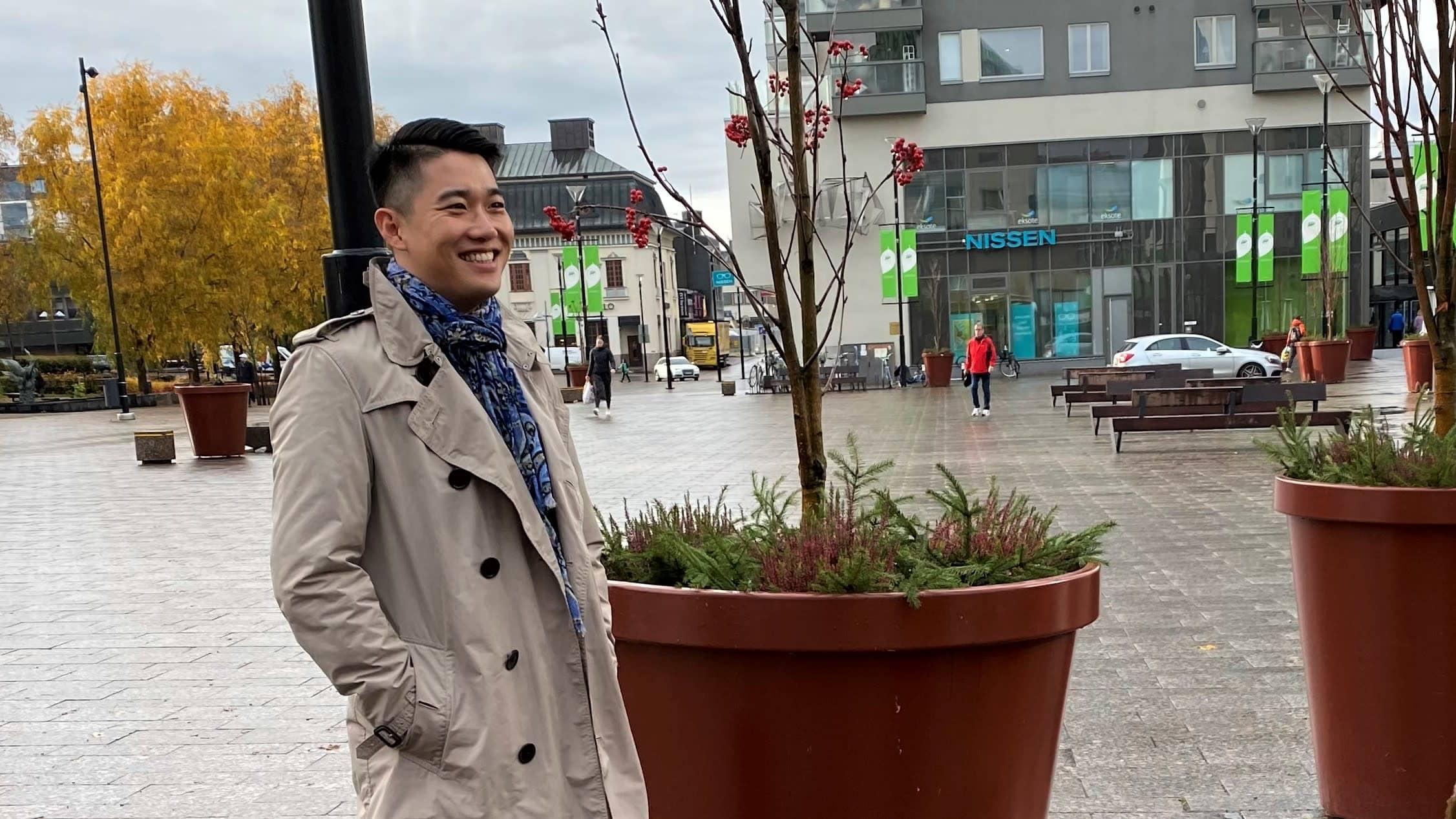 Lappeenrantalainen Etelä-Karjalan liiton yhteyspäällikkö, Aasia-asiantuntija Ding Ma.