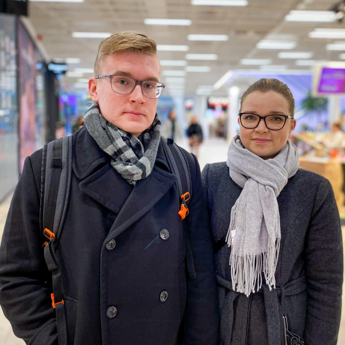 Aleksis Katiskoski ja Tuija Rokkonen.