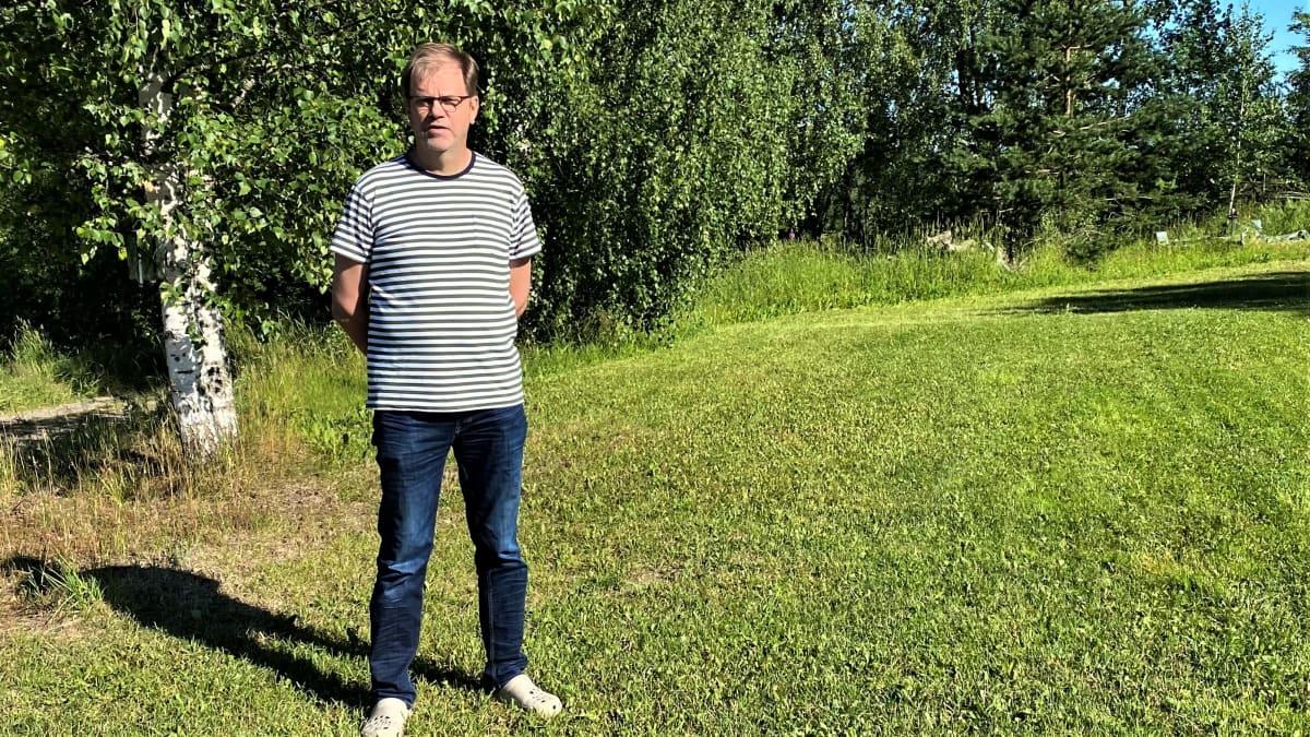 Savitaipaleen Virmajärven osakaskunnan puheenjohtaja Tarmo Hänninen.
