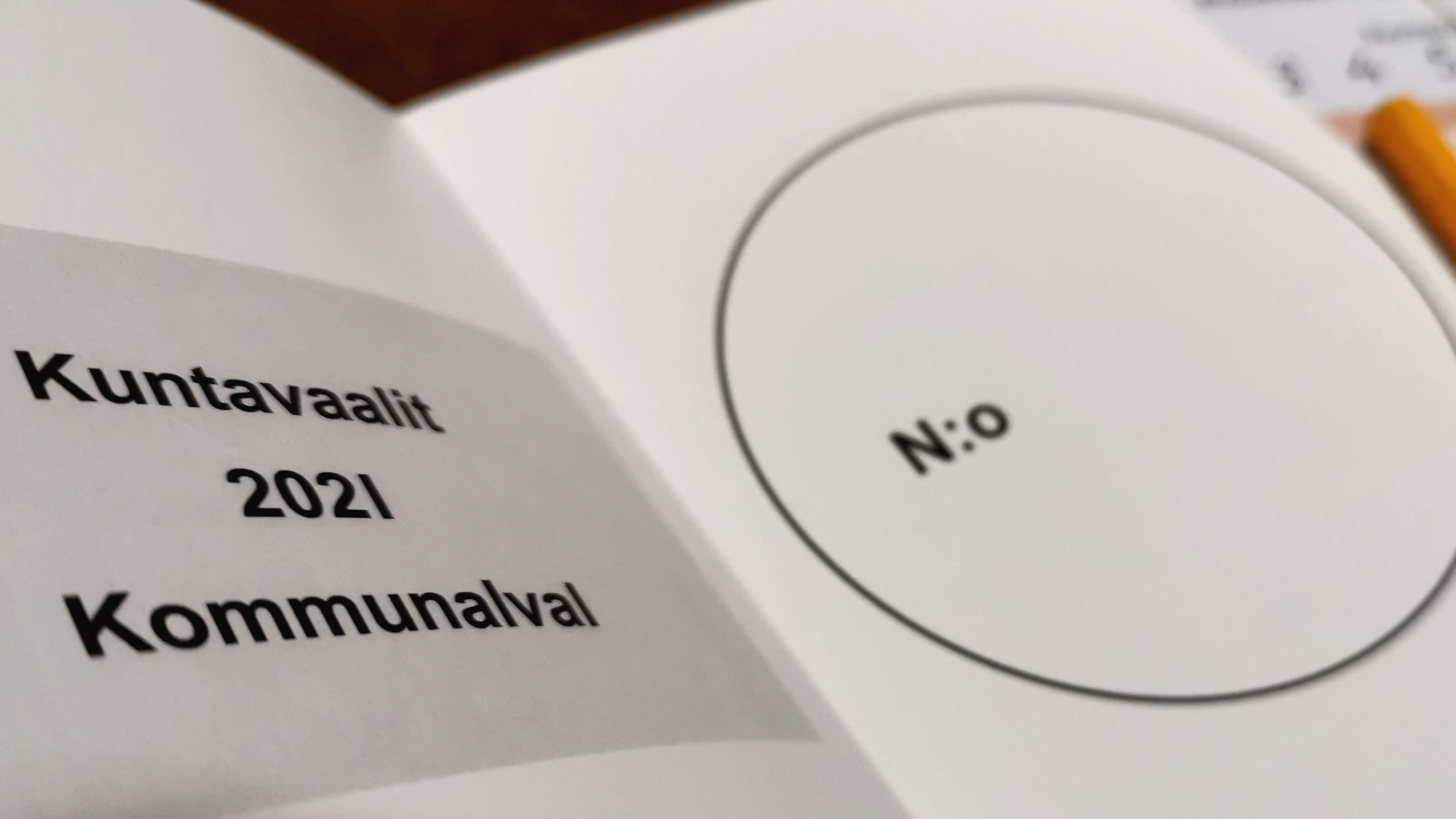 Kuntavaalit 2021, äänestyslipuke.