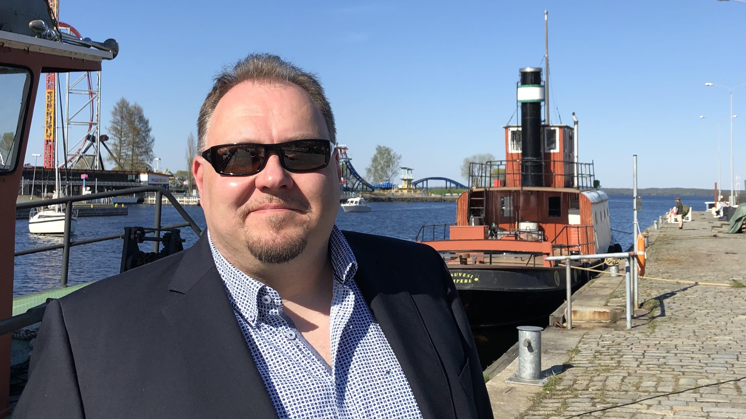 Tampereen satamavastaava Tuomas Salovaara