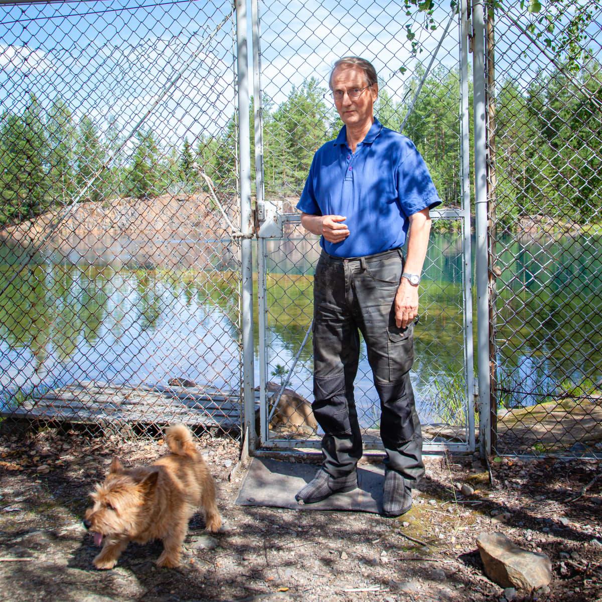 Telkkälän kaivoksen naapurissa asuva Martti Tölli.