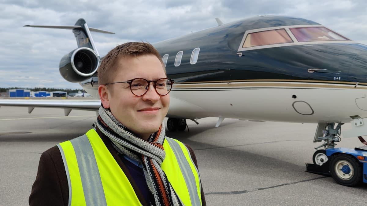 Nesteen uusiutuvien lentopolttoaineiden kehitysjohtaja Sami Jauhiainen