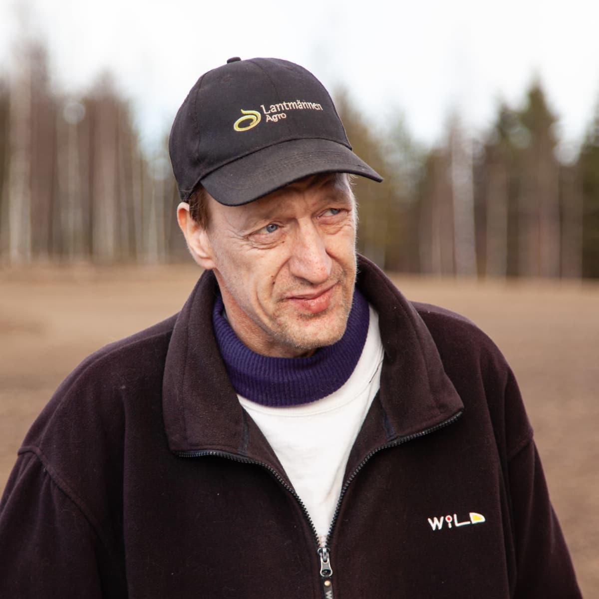 Lemiläinen perunanviljelijä Ahti Junnonen.