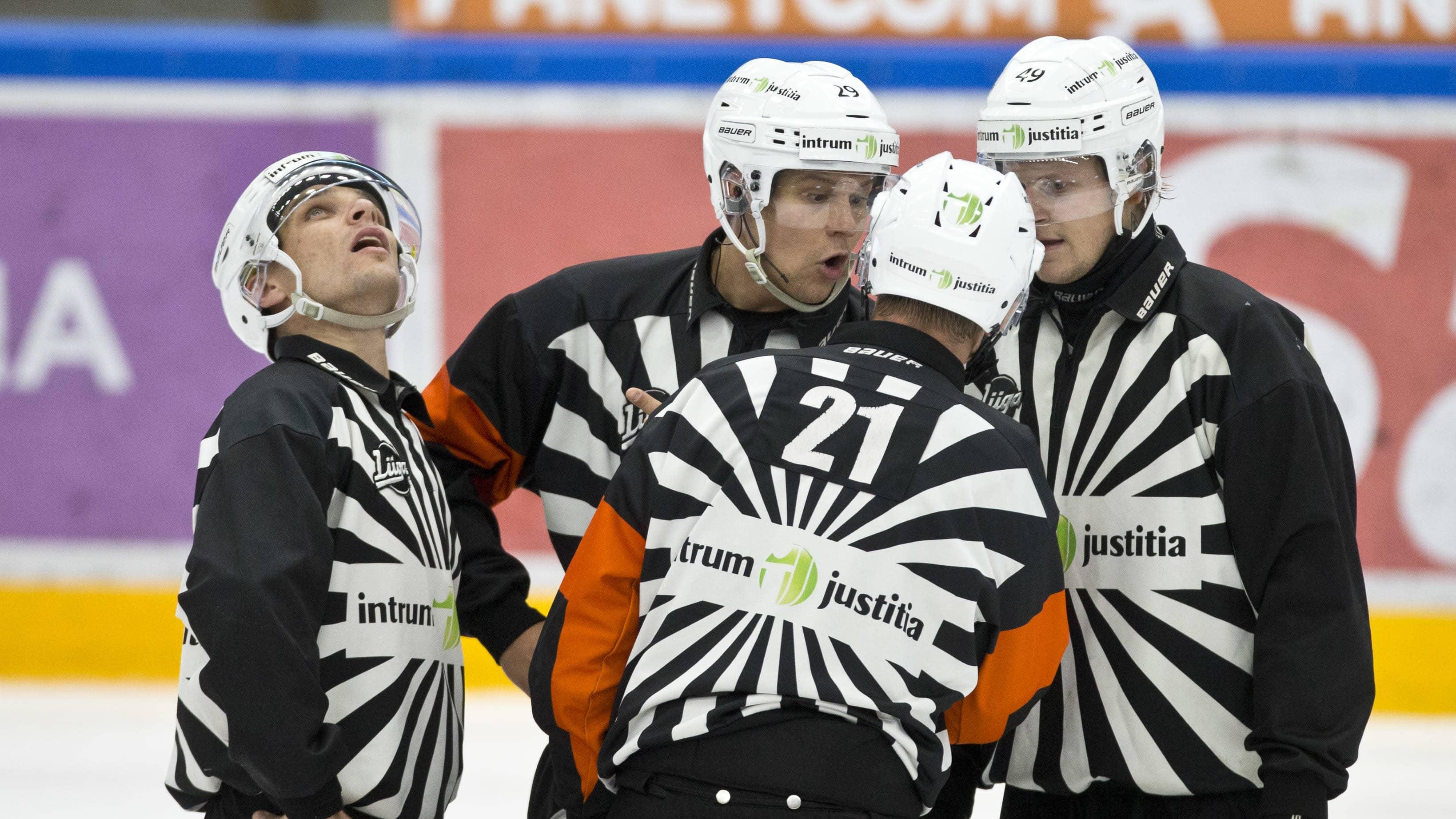 Stefan Fonselius (Päätuomari) #29 Lassi Heikkinen (Päätuomari) #49 Lauri Nikulainen (Linjatuomari) #32 Daniel Österholm (Linjatuomari)  27.09.2017
