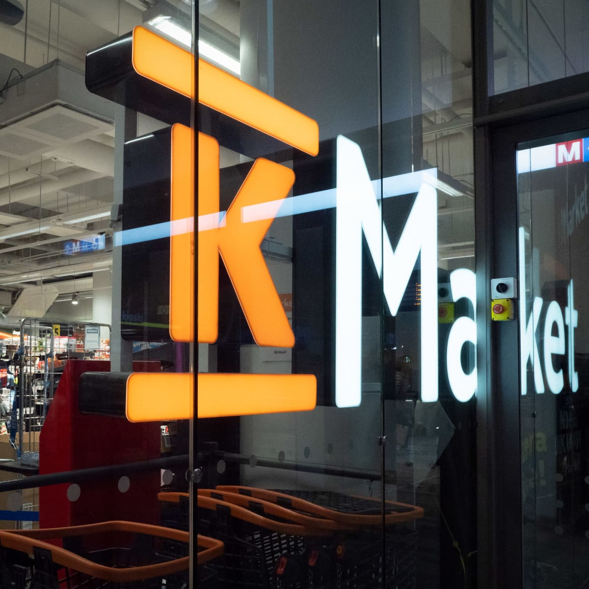K-Market kauppa.
