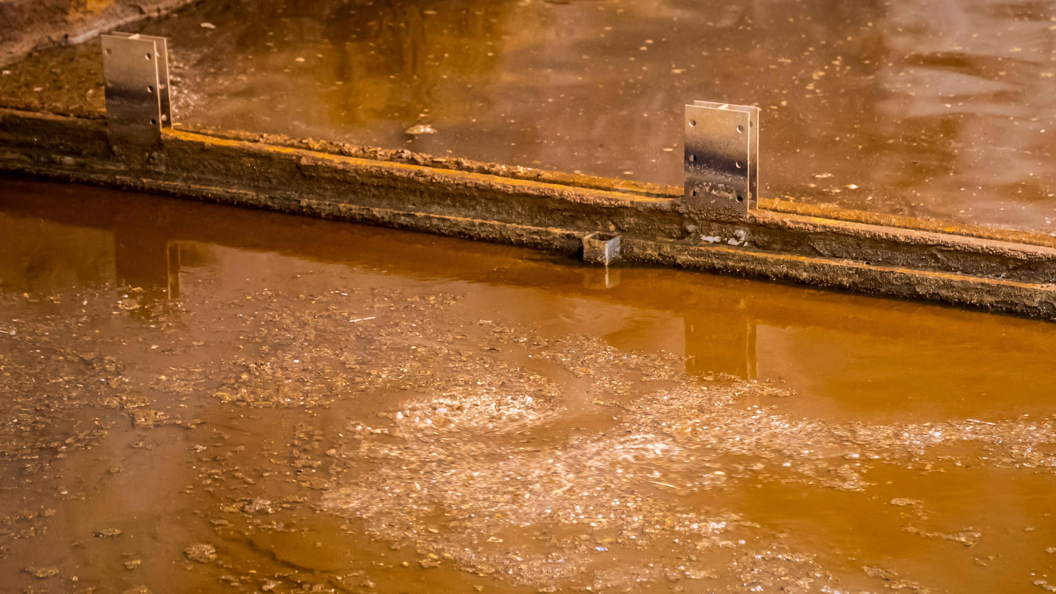 Viikin jätevesipuhdistamon altaassa jätevesipyörre.