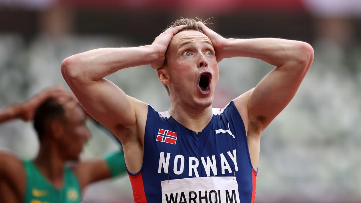 Järisyttävä juoksu! Karsten Warholm juoksi 400 metrin aitojen maailmanennätyksen