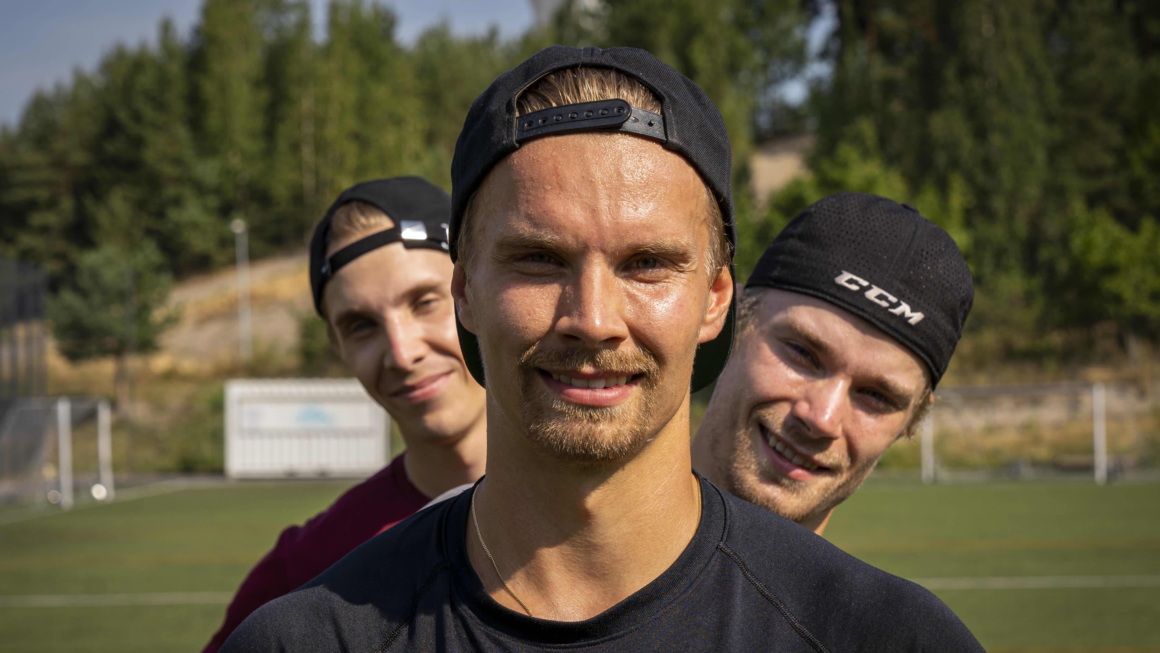 Jääpalloilijat Tuomas, Teemu, Tommi Määttä