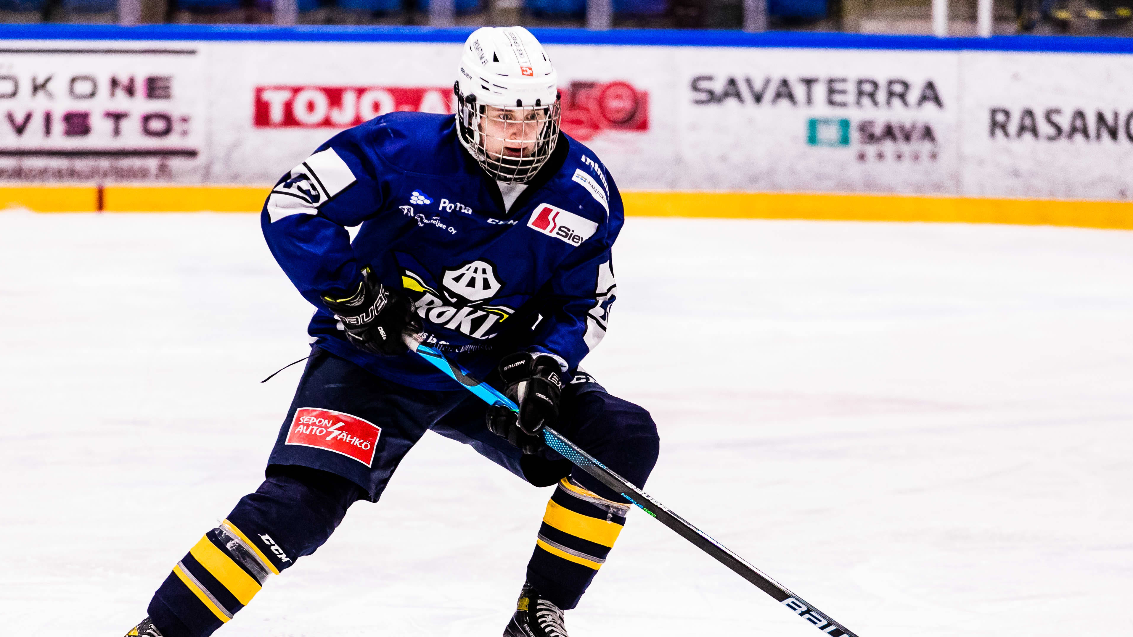 RoKi puolustaja Aino Karppinen jäällä.
