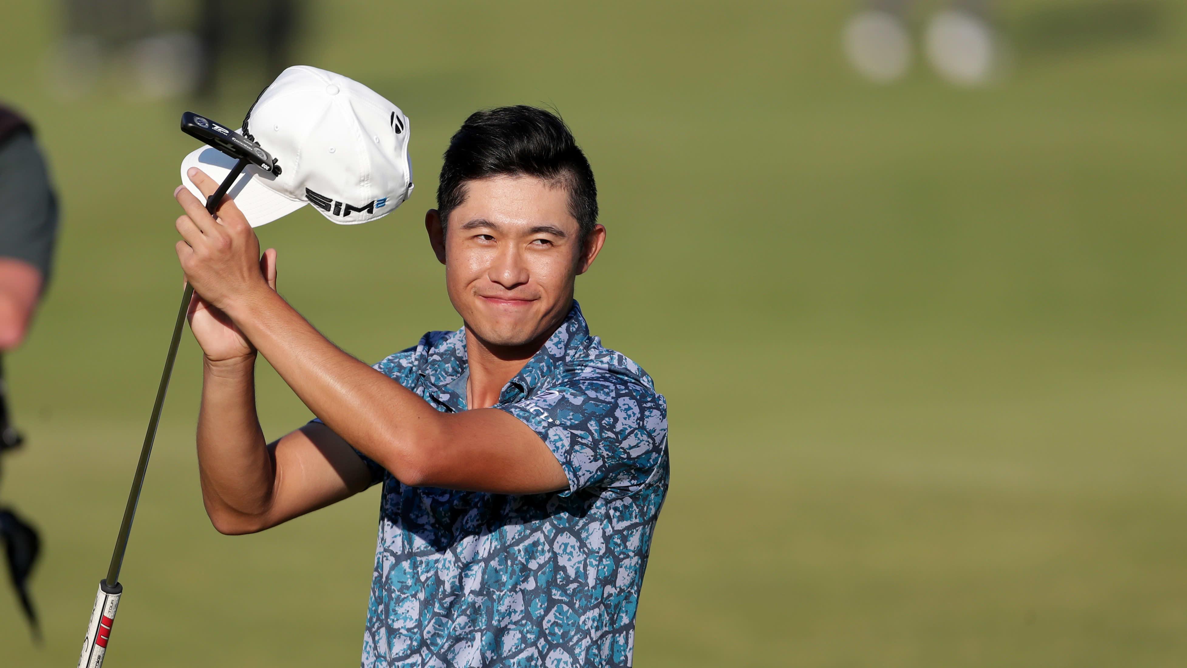 Yhdysvaltalainen golffaaja Collin Morikawa.