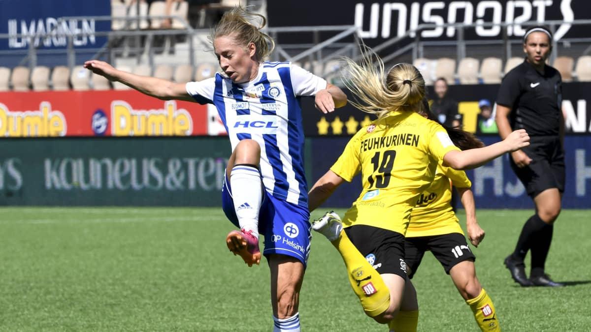 HJK:n Linda Sällström haastattelussa paluuottelun jälkeen