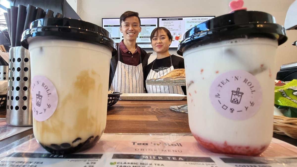 Kuplatee kahvila Tea 'n' Roll omistajat Thinh ja Amy Truong